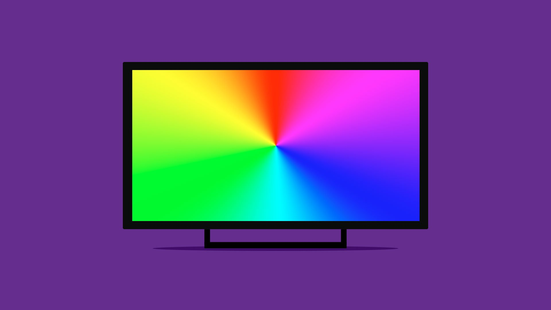 This image is of a rainbow screen error with the Raspberry Pi.