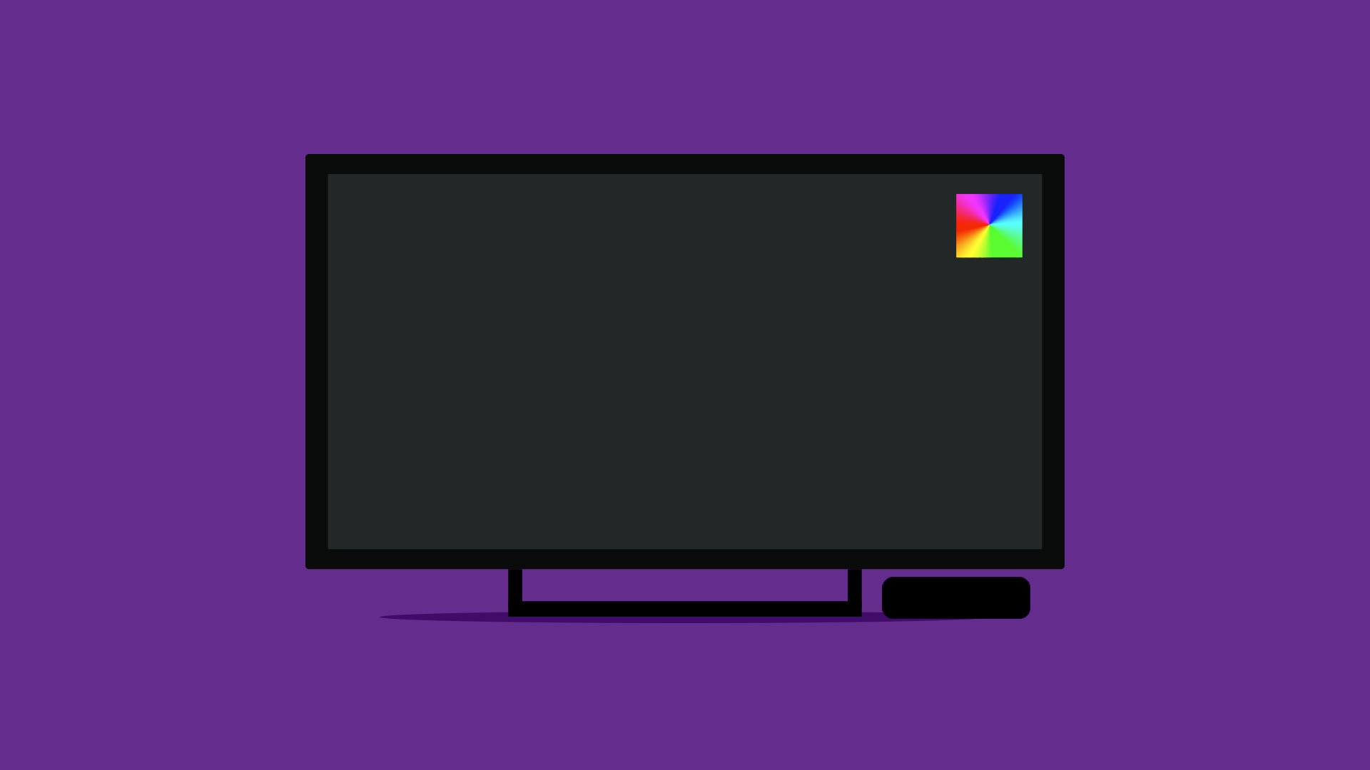 This image is of a rainbow square alert with the Raspberry Pi.
