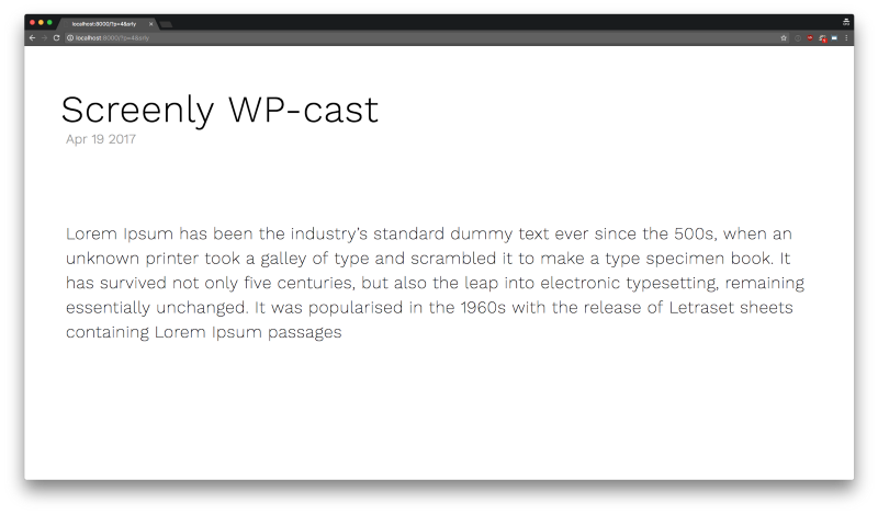 Screenly - Introducing Screenly Cast for WordPress